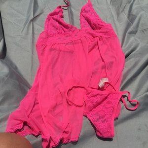 Victoria's Secret babydoll dress and g-string